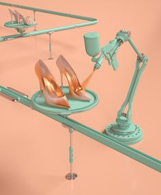 MORE Magazine: Marie Kondo #magazine #shoes #pastel #pink #gold #fashion
