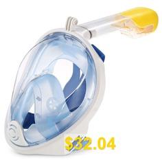 M2068G #Full #Face #Snorkel #Mask #for #Action #Camera #- #BLUE