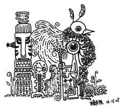 Tribal Vitrual See more in :http://markermalisum.blogspot.hk/ #bird tribe