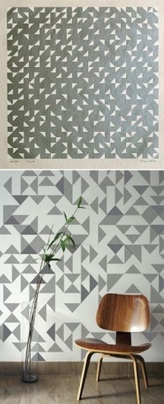 artful interiors: art and home pairings | Design For Mankind #wall #pattern #art
