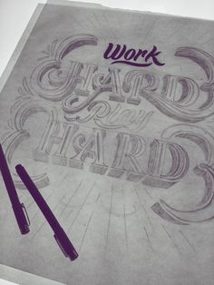 Work Hard, Play Hard Mural by Scott Biersack #typography #type #lettering #hand lettering #hand drawn type