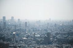 Arnaud Wacker #mist #tokyo #skyline