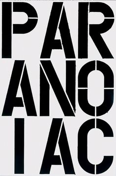 Ju est fou - Painting by Christopher Wool. #wool #christopher