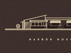 Dribbble - Harbor House by Sahand Nayebaziz #illustration #architecture #building