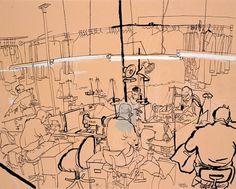 Lucinda Rogers' East End | Spitalfields Life #rogers #illustration #ink #lucinda