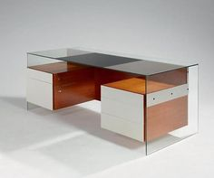 Desk #glass #wood #design #desk