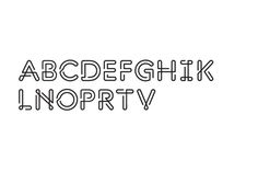 Oneline typeface pjadad