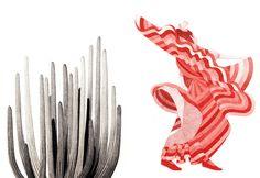 Eleni Kalorkoti illustration #spain #dance #illustration #cactus #dress