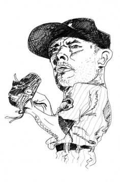 Andrew Merritt / ILLUSTRATIONS #ink #sketches #illustration #pen #and #baseball