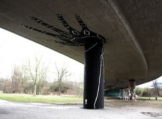 Dome #mural #overpass #black #art #street #bridge #hand