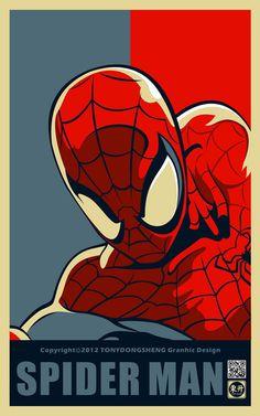 spiderman-portrait-style-obama-hope