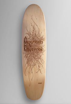 A Mountain is a Mammal - Andrew Johnson #skateboard #wood #drawing #etching