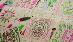 Design Work Life » 2013 Studio On Fire Desk Calendar #colour