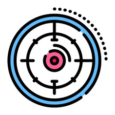 See more icon inspiration related to target, sniper, aim, business and finance, sports and competition, shapes and symbols, seo and web, edit tools, objective, shooting and weapons on Flaticon.