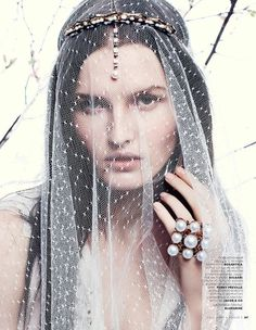 Katlin Aas by Benny Horne. Vogue Russia, March 2013. #veil