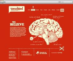 Mike Kus | Dreaming Everyday About Design #red #web design #brain #mike kus