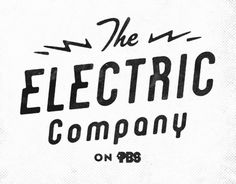 All sizes | Electric Company | Flickr - Photo Sharing! #lettering #illustration #handmade #logo #typography
