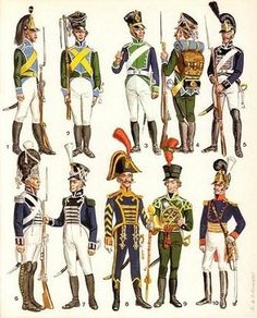 wirtembergian_troops_napoleonic_wars.jpg (348×432) #soldiers #war #napoleonic