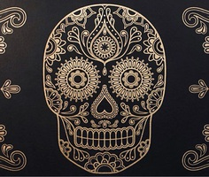illustration: Key elements for my day of the dead poster PATTERN