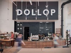 Dollop Coffee & Tea #signage