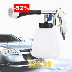 Air #Pulse #Tornado #Gun #Surface #Cleaning #Washing #Foam #Tool #with #Brush #- #WHITE
