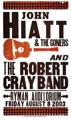 gig poster #hiatt #gig #john #poster