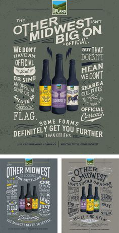 New Logo and Packaging for Upland Brewing Co. by Young & Laramore #beer #poster