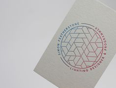 Simon Featherstone #logo #branding #identity #business card #letterpress #gradient #grey #passport