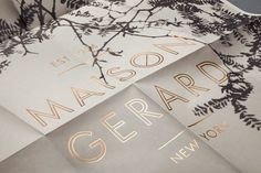 Design Work Life » cataloging inspiration daily #type #identity #poster #layout #black #trees #gold #maison gerard