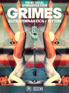 GRIMES TOURPOSTER0 800px_800 #design #geometry #poster