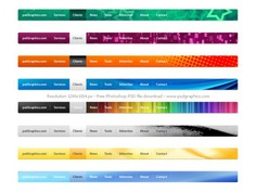 Psd website navigation menus set Free Psd. See more inspiration related to Design, Template, Graphic design, Web, Website, Web design, Decoration, Graphics, Psd, Website template, Navigation, Set, Horizontal and Menus on Freepik.