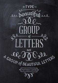 Chalk Typography #typography