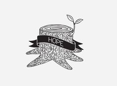 mkn design Michael Nÿkamp #hope #banner #trunk #tree #leaf