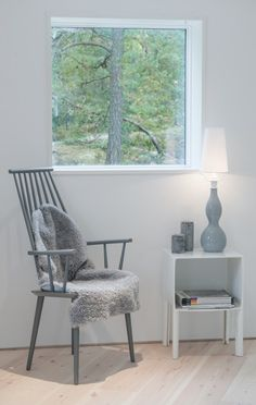 Villa Blabar. Loft seating area. Foto: Jason Strong #interior #beauty #sweden #white #chair #design #minimalism #architecture #grey