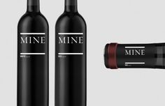 Brave Nu Digital / Mine Wine #packaging #identity