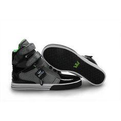 Supra TK Society Shoes Black Gray High Top #shoes
