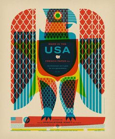 Nice design #illustration #usa #eagle #french
