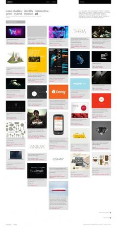 DHNN - The new 2011 website full story on the Behance Network #dhnn #interactive #portfolio #design #grid #case #identity #studies #web