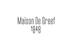 Logotype by Base Design for high-end jewellery brand, expert watchmaker and retailer Maison De Greef 1848