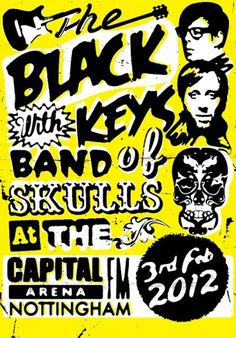 LL Reps News » The Black Keys gig poster by Steve Wilson #poster