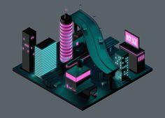 Nippon 2061 by Rickard Arvius #rickardarvius #3d #cinema4d #c4d #digitalart #visualart #cgi #render #city #japan #nippon #future #futuristic