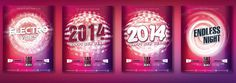 4IN1 Flyer Templates #happy #year #party #flyer #christmas #devianart #graphicriver #new