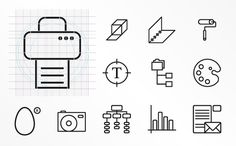 Icon selection by www.o-zone.it , via Behance.