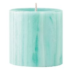 Marbled Pillar Gooseberry & Peach Scented Candle, 7 x 7 cm
