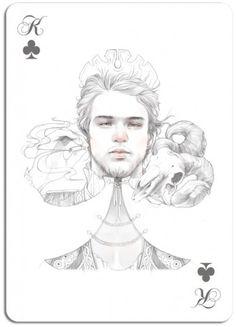 2fb0c6040b23dcea98748e64c5e9ee9e.png (PNG Image, 600×831 pixels) #card #illustration #king #playing