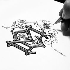 Kidon Bae - CM monogram sketch #hand lettering #lettering #letter #kidon bae #illustration #graphicdesign #graphic design #logo #monogram #a