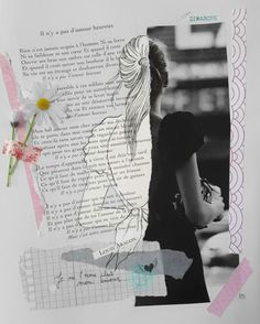 #collage#girl#B&W