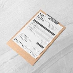 Printable Invoice Template Business Invoice Invoice Design | Etsy