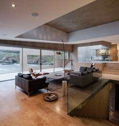 Chilean Concrete Residence Adorning a Steep Slope: Bahia Azul House 11