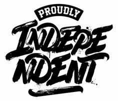 """PROUDLY INDEPENDENT"" logo for Macro Beats djs"